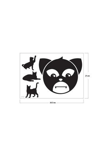 Disney Kedi Klozet Sticker 20X17 Cm Renkli